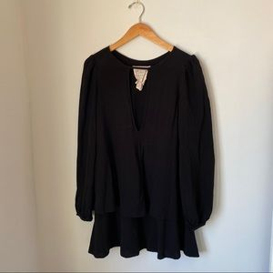 Free People Trapeze Black Dress / Long Top ✨